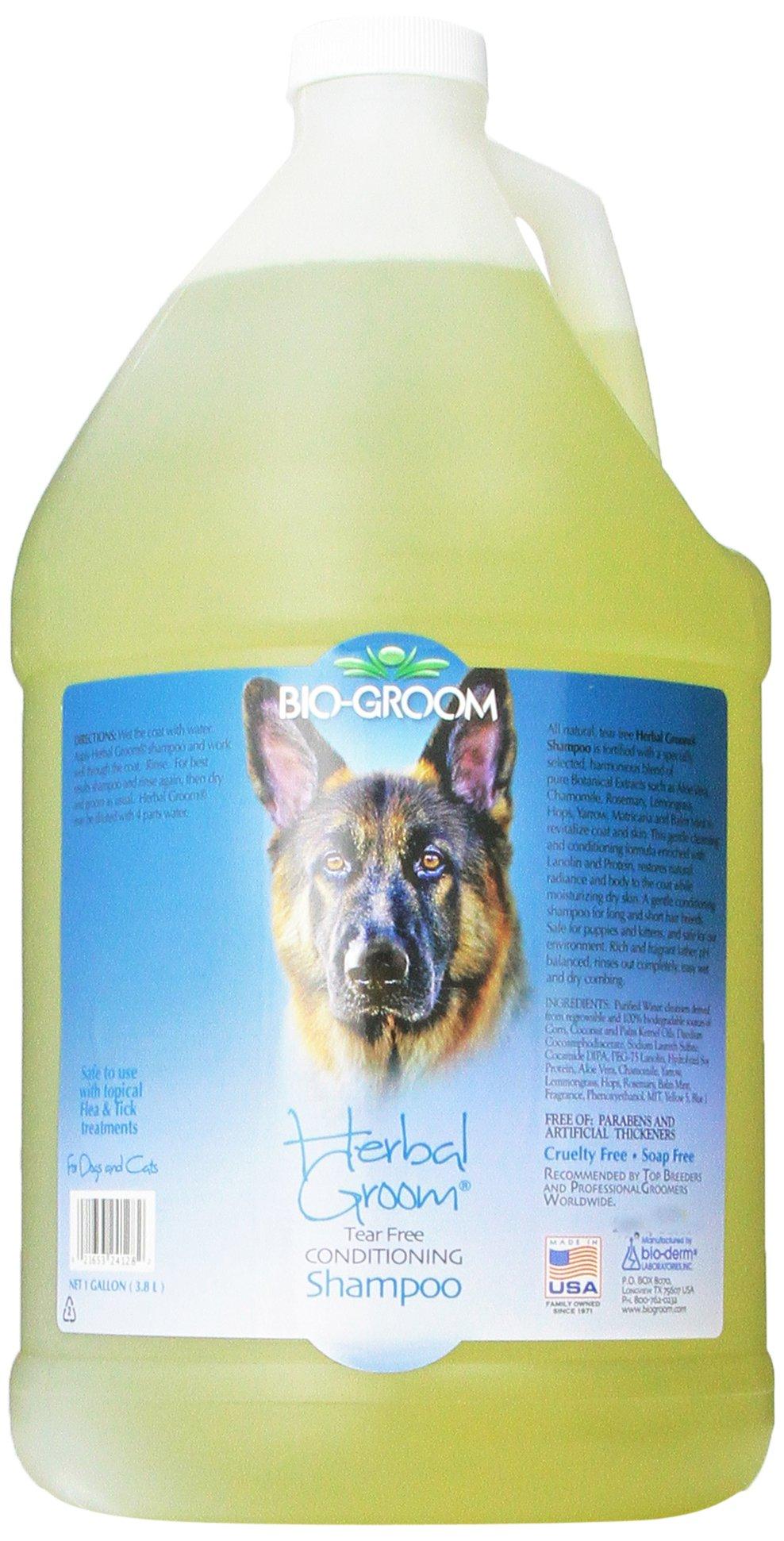 Bio-Groom Herbal Groom Puppies and Kittens Conditioning Shampoo, 1-Gallon