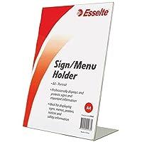 ESSELTE 47562 Sign,MENU Holder Slanted Port A4,Clear