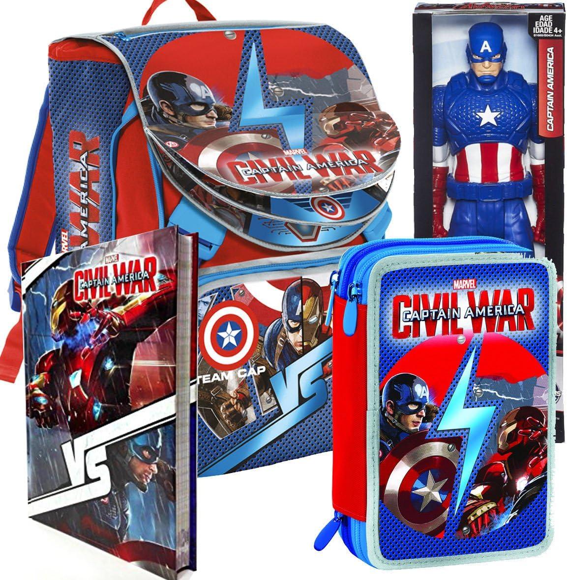 Mochila School Pack Capitán América Civil War 2016/17 (Mochila + ...