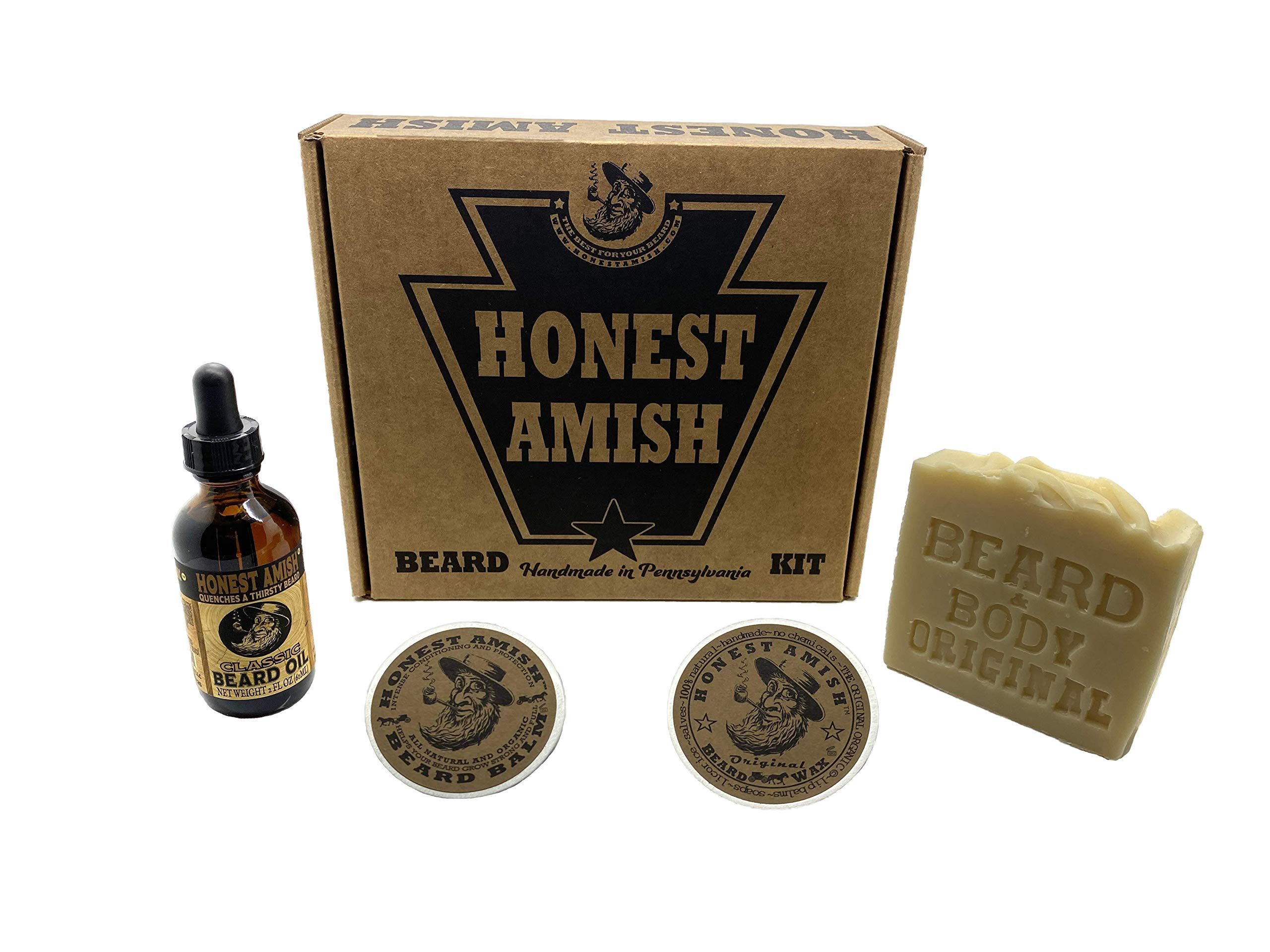 Honest Amish Beard Kit Gift Box