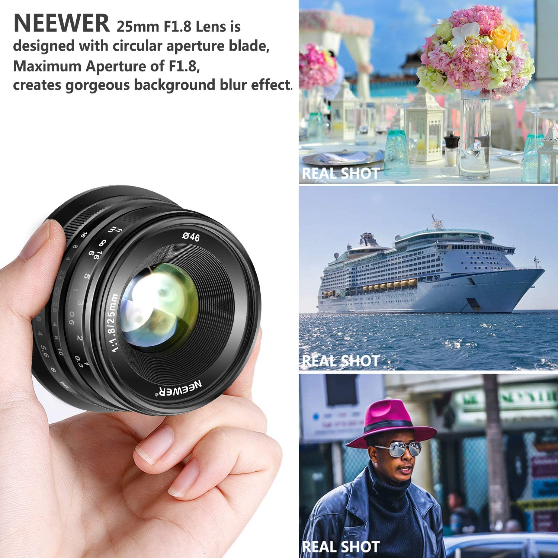 Neewer 25mm f/1.8 Manueller Fokus haupt fixierte Objektiv fr ...