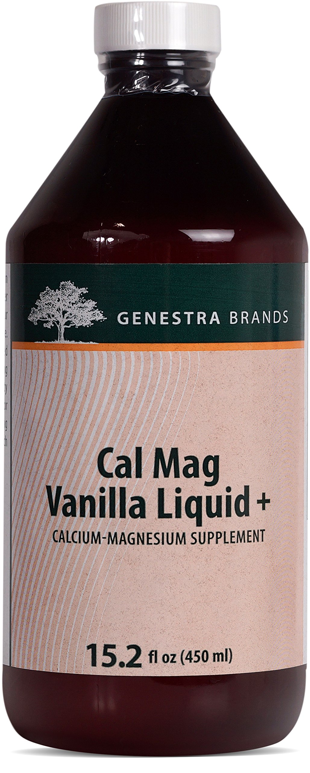 Genestra Brands - Cal Mag Vanilla Liquid + - Calcium-Magnesium Supplement - 15.2 fl