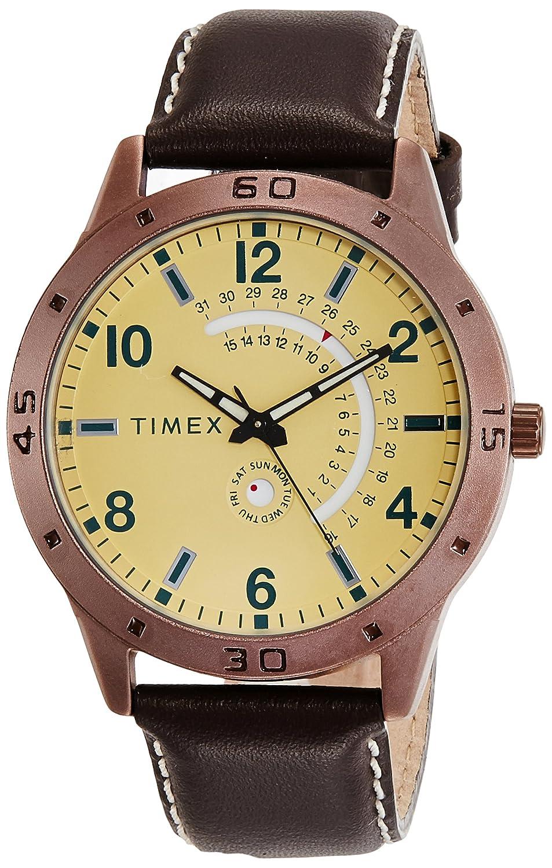 timex-analog-beige-dial-mens-watch-tw000u930