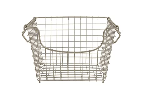 Spectrum Diversified Scoop Stacking Storage Basket, Medium, Satin Nickel