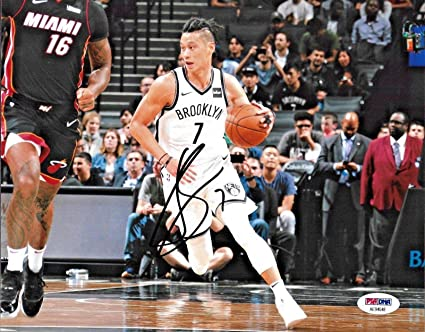 b925960af Jeremy Lin Autographed Photo - 8x10 B) - PSA DNA Certified - Autographed NBA