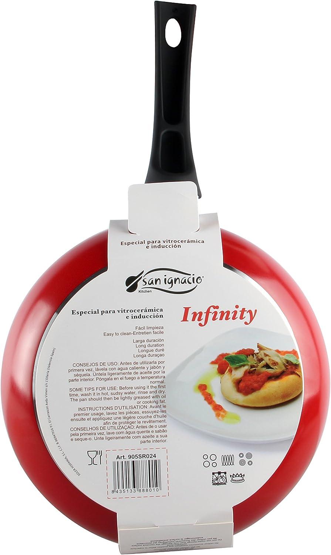 Amazon.com: San Ignacio Infinity – Frying Pan, Red 24 cm ...