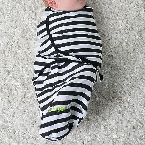 Ziggy Baby juego de 3 mantas para bebés, unisex, ajuste universal - set de mantas ajustables para envolver bebés recién nacidos, para niños y niñas, ...