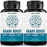 Brain Boost by Nootrix - (2-Pack) 120 Capsules - Premium Nootropic Supplement - Improves Cognitive Function & Memory, Enhance
