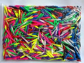 500 puntas para dardos, al menos 6colores, duradero, incluye un conjunto