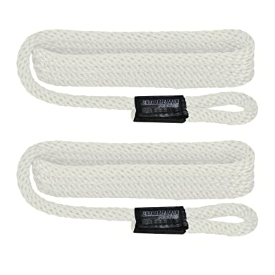 "Extreme Max 3006.2150 BoatTector Solid Braid MFP Fender Line - 3/8"" x 5', White: Automotive"