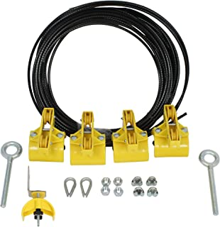 product image for KH Industries FTSW-FL-KIT80 Festoon Stretch Wire Kit with 80' Length for Flat Cable System