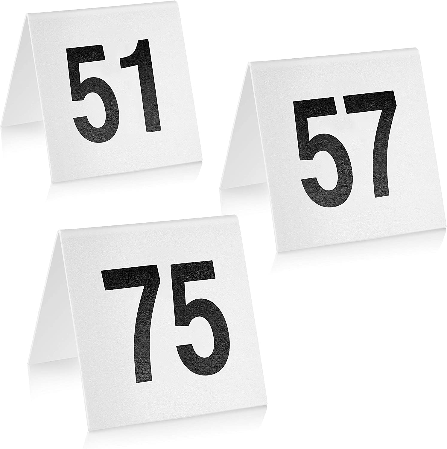 New Star Foodservice 27570 Double Side Plastic Table Numbers, 51-75, 3