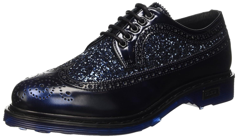 Cult Sabbath, Zapatos de Cordones Brogue para Mujer 36 EU|Azul (Blue)