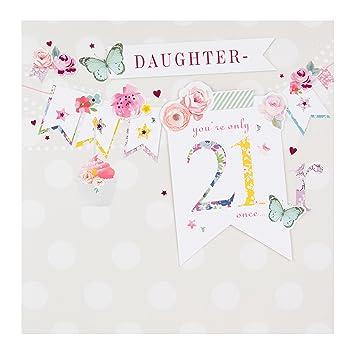 Daughter 21st Birthday Age 21 Hallmark Card Fabulous Forever