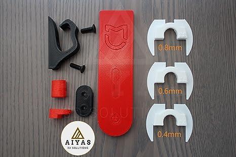 ULTIMATE PACK Patinete Xiaomi Mijia M365 M185 (Amortiguador junta Antiholgura, Gancho Portabolsas, Protector cable LED, funda goma Pata y gancho, ...