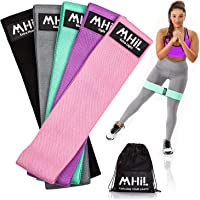 MhIL Resistance Bands - Best Exercise Bands for Women and Men - Thick Elastic Fabric Workout Bands for Working Out Legs…