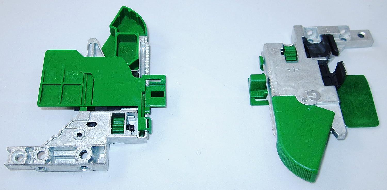 inkl 40 kg Grass Dynapro Unterflurf/ührung Vollauszug f/ür Holzschubkasten Kupplungen mit D/ämpfung Nennl/änge 450mm Werkzeuglose 4D-Verstellm/öglichkeit von UMAXO/®