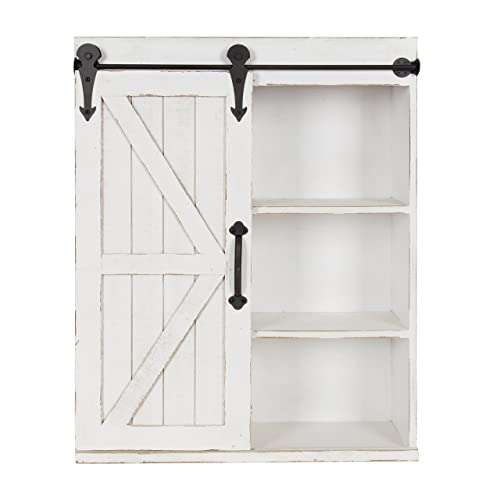White Farmhouse Sliding Door Cabinet: Wall Cabinets: Amazon.com