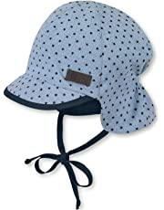 Sterntaler Baby-Jungen Sonnenhut Cap with Visor and Neck Protection