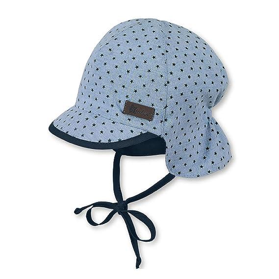 ae171d6f6e524 Sterntaler Baby-Jungen Sonnenhut Cap with Visor and Neck Protection   Amazon.de  Bekleidung