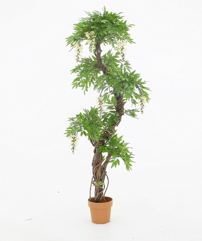 Vert Lifestyle Giapponese artificiale di qualità fruticosa albero con i fiori crema, coperta - Replica Ufficio Albero - Plant - 165 centimetri alto