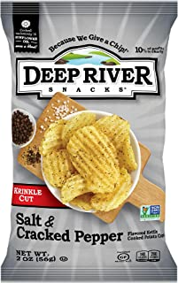 product image for Deep River Snacks Salt & Cracked Pepper Kettle Cooked Potato Chips, 2 Ounce (Pack of 24)