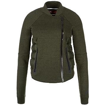 Chaqueta Nike Tech Fleece Aeroloft Moto Mujer Caqui / Negro 683938-325 XL: Amazon.es: Deportes y aire libre