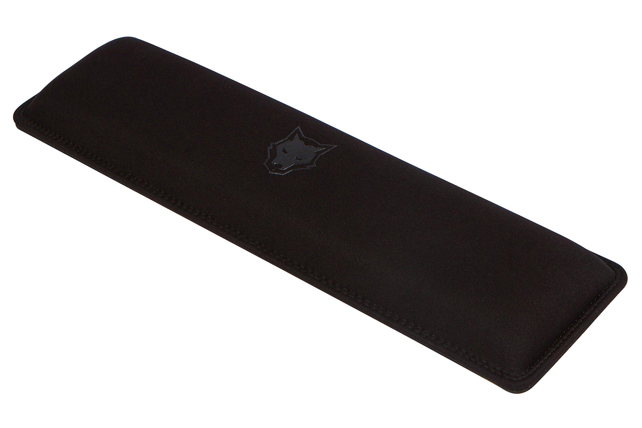 SubZERO Gaming Wrist Rest/Pad for Keyboards, TENKEYLESS, Stitched Edges, 14.5''x4''x1'' (Black) by SubZERO Gaming