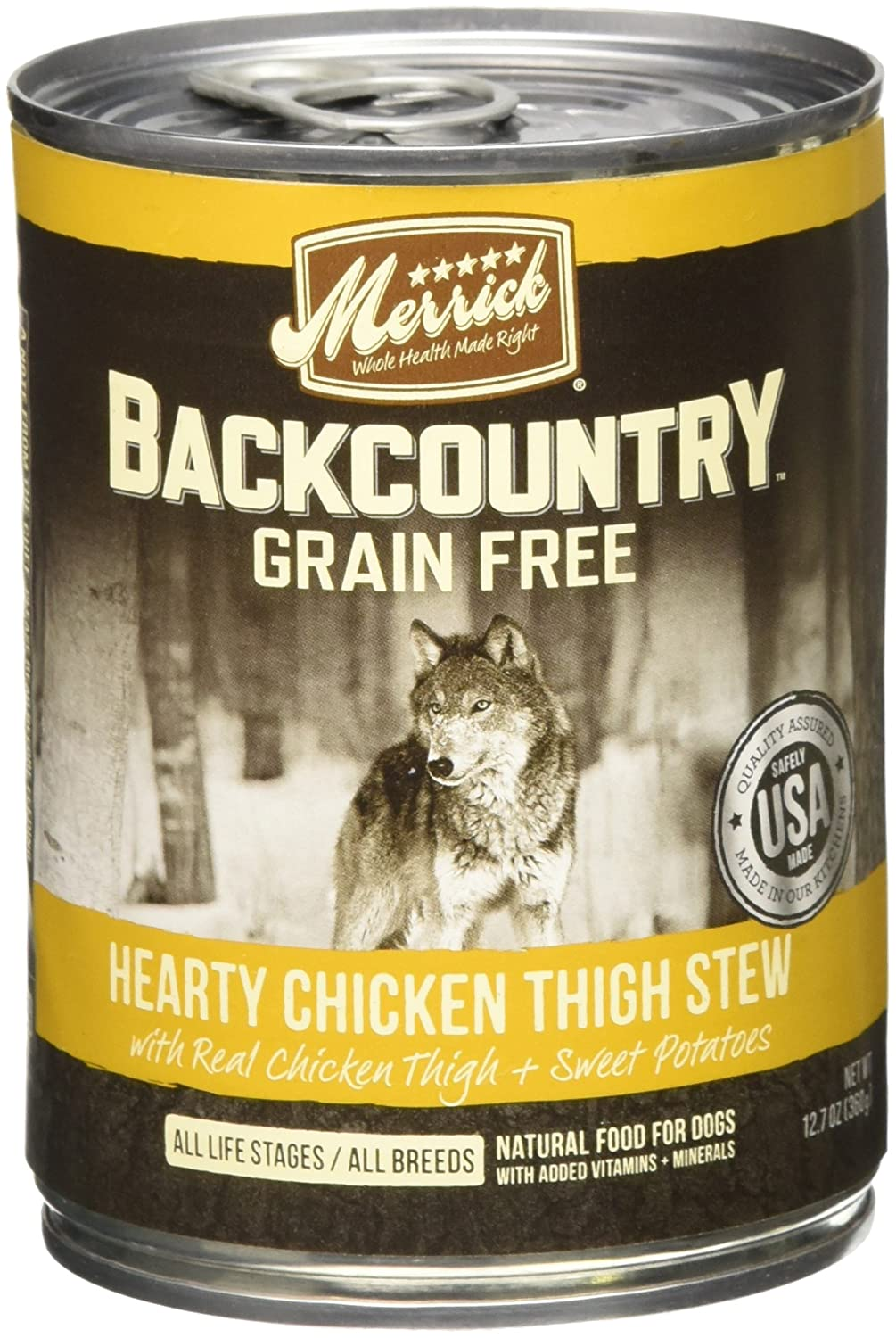 Merrick Backcountry – Hearty Chicken Thigh Stew – 12.7 Oz – 12 Ct