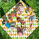 """Homemaxs Picnic Blankets Extra Large 80"""" X80"""", 【2020 Newest】 Waterproof Foldable Picnic Mat with 3 Tier Waterproof…"""