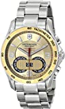 Victorinox Unisex 241619 Chrono Classic Analog Display Swiss Quartz Silver Watch