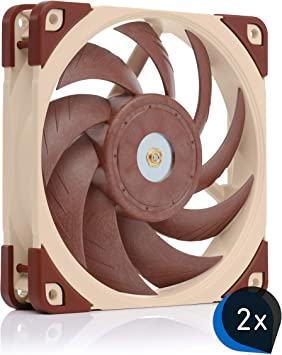Noctua, Paquete de Ventiladores de240 mm para refrigeración líquida (2X NF-A12x25 PWM): Amazon.es: Electrónica