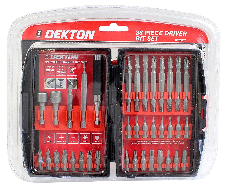 DEKTON 38 PIECE DRIVER BIT SET DT65475