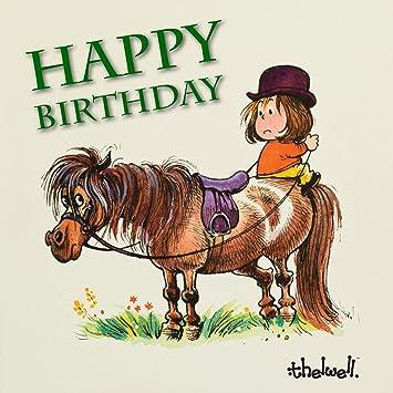 Thelwell Happy Birthday Pony Audio Greeting Birthday Card Plays