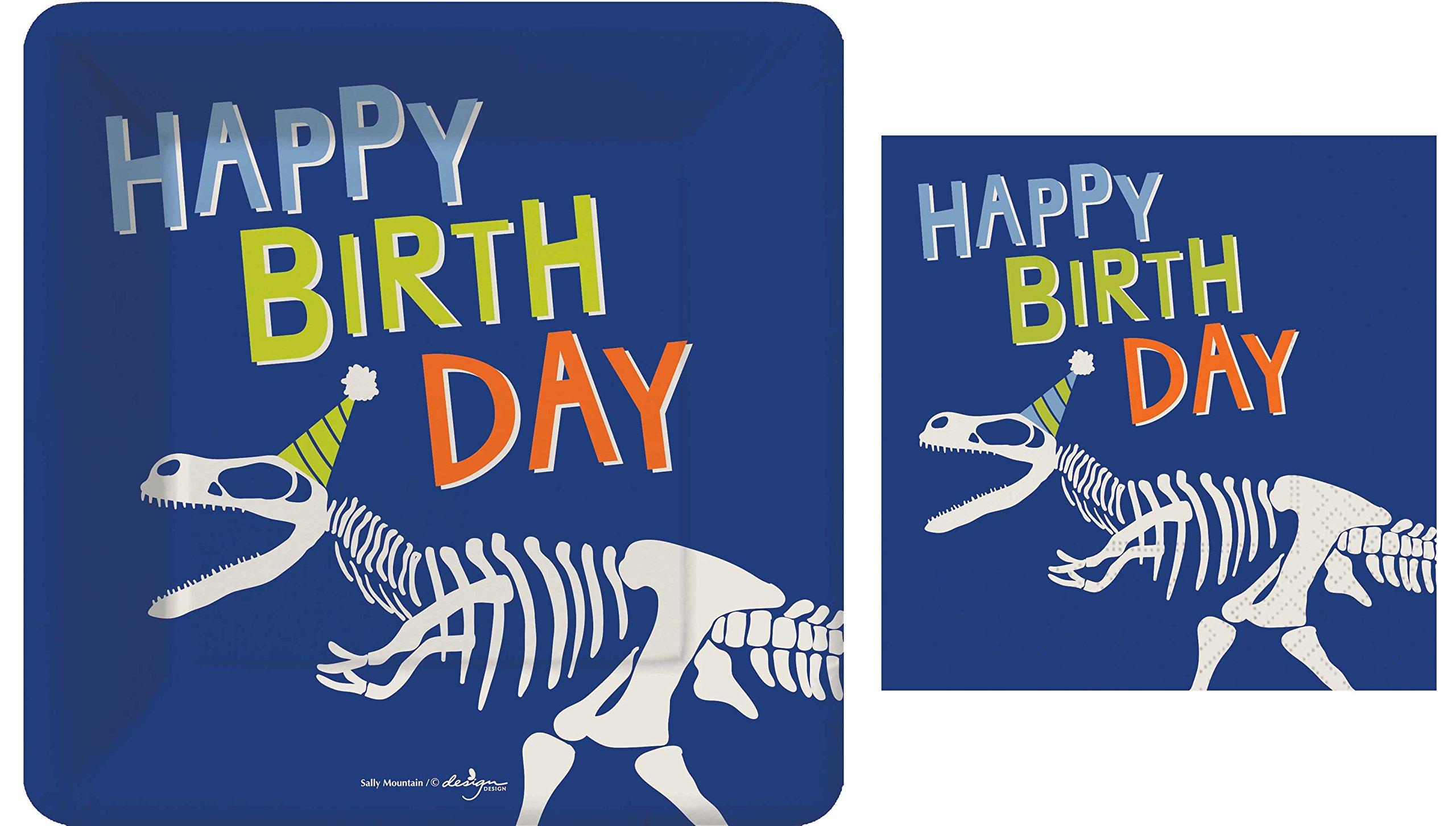 Dinosaur Dino-Mite Small Plates and Napkins By Design Design