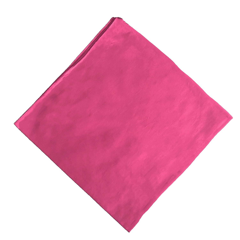 Pa/ñuelo de cuello de un solo color 100/% algod/ón rosa Talla /única