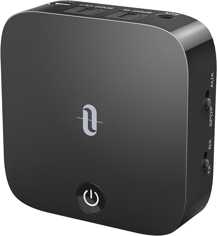 TaoTronics Bluetooth 5.0 Transmitter and Receiver, Digital Optical TOSLINK...