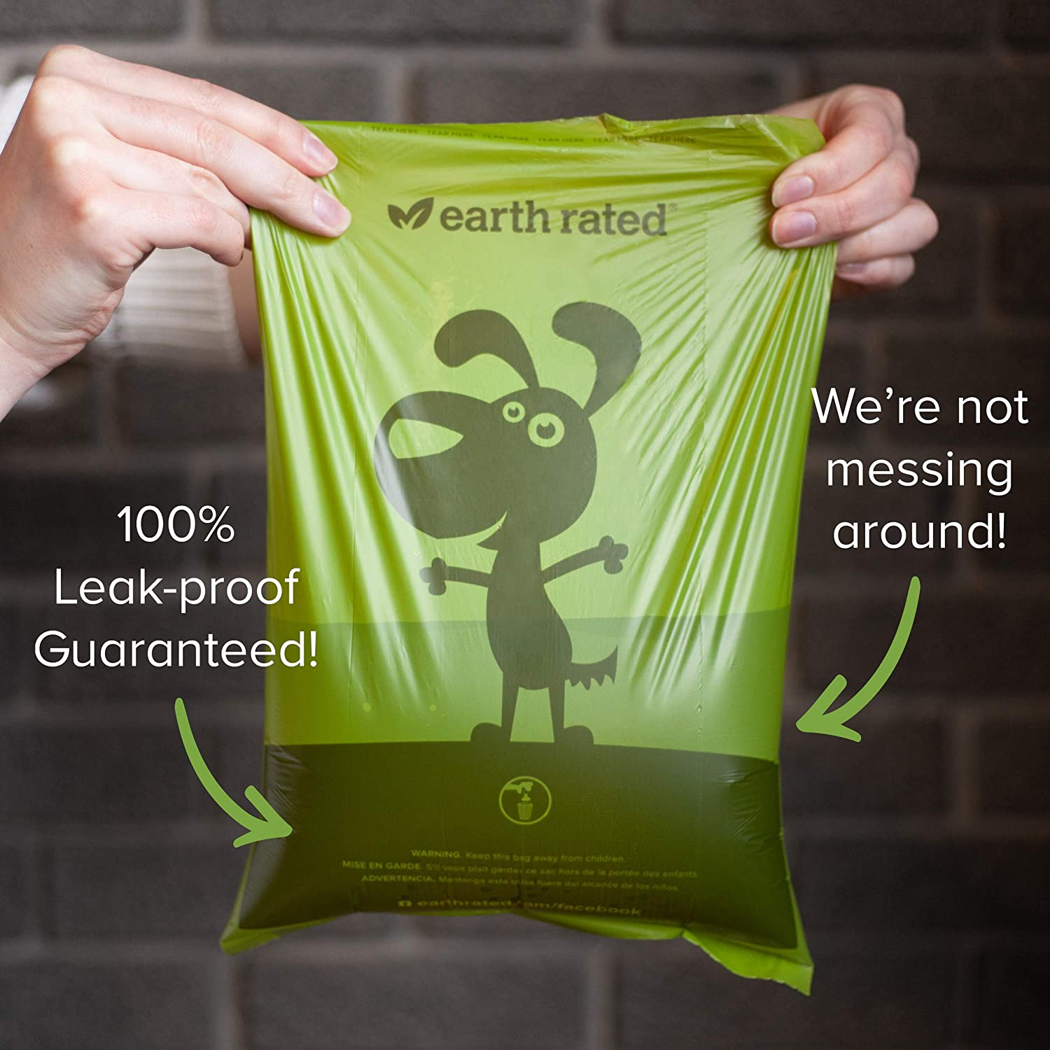 Include 15 Biodegradable Lavender-Scented Poop Bags Earth Rated Leash Dispenser for Dog Waste Bags