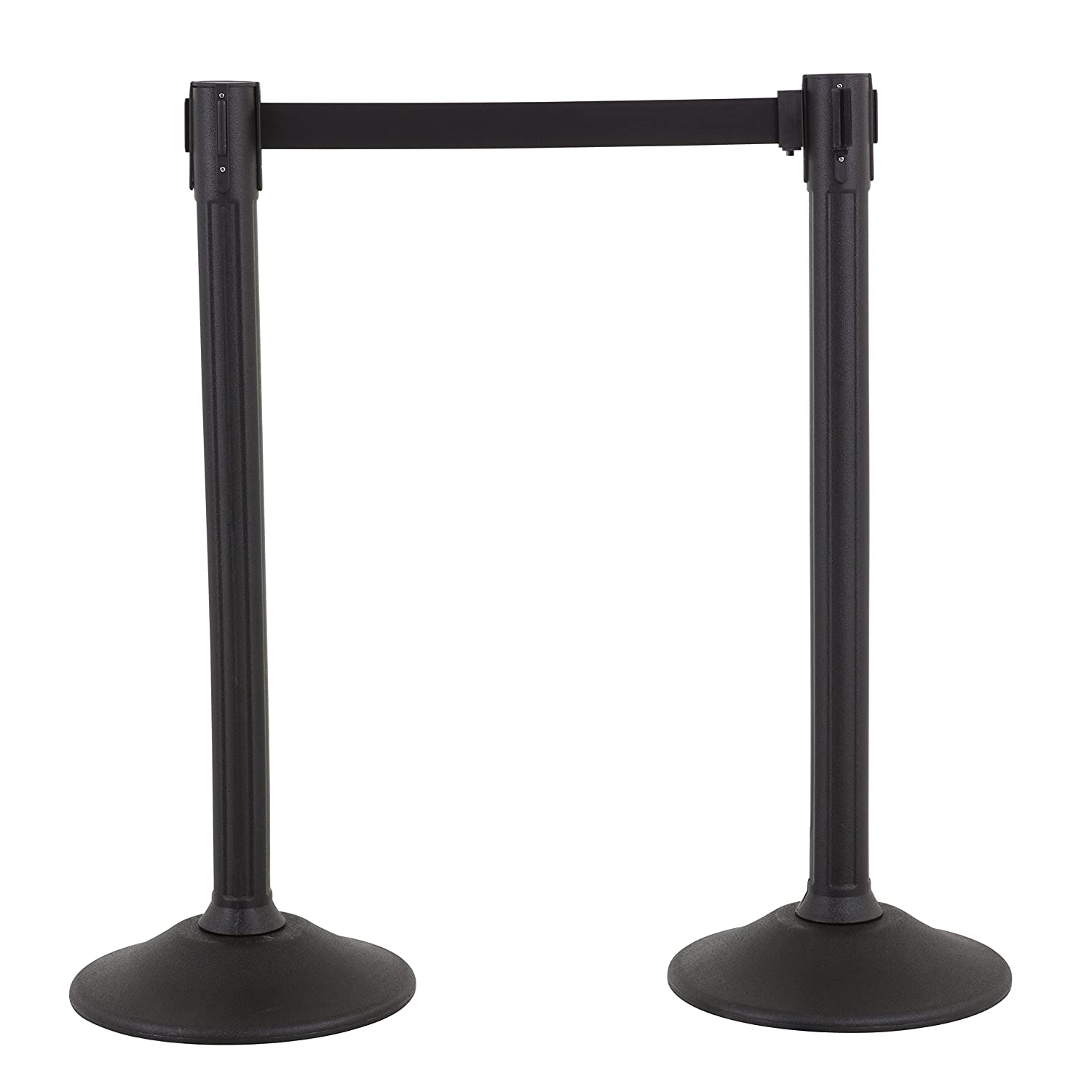 US Weight Sentry Stanchion with 6.5 Foot Retractable Belt – Easy Connect Assembly (2-Pack)