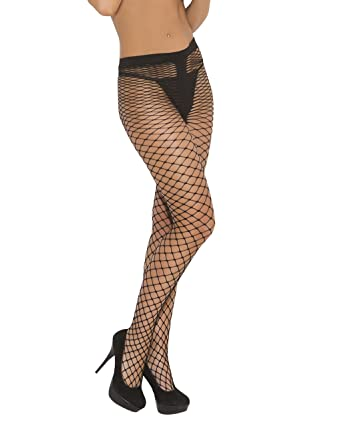82441cbdb Image Unavailable. Image not available for. Color  Womens Black Fishnet  Pantyhose Diamond Net Spandex ...