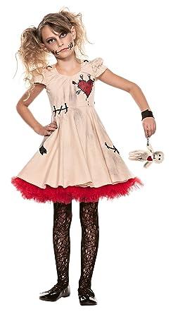 Voodoo Doll Child Costume - X-Small  sc 1 st  Amazon.com & Amazon.com: Big Girlsu0027 Voodoo Doll Costume: Clothing