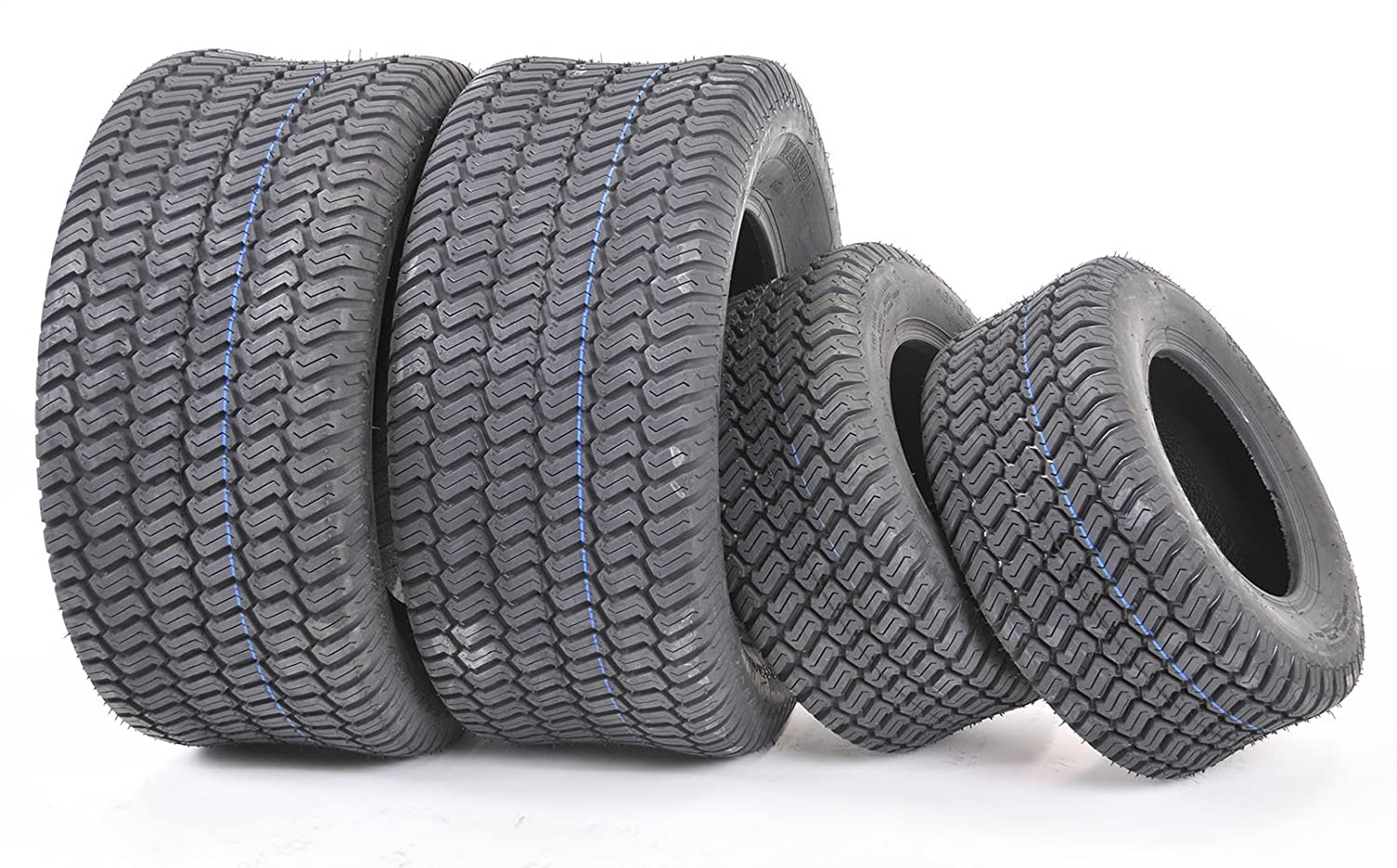 Wanda Set of 4 New Lawn Mower Turf Tires 15x6-6 Front & 20x10-8 Rear/4PR -13016/13040