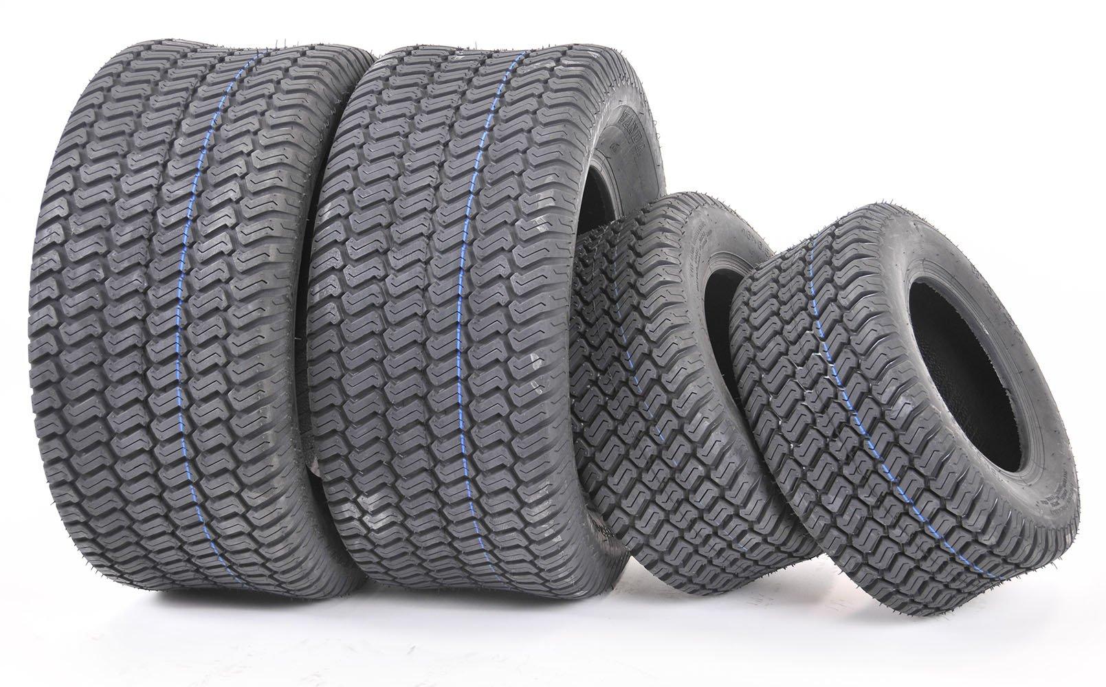 Wanda Set of 4 New Lawn Mower Turf Tires 15x6-6 Front & 20x10-8 Rear/4PR -13016/13040