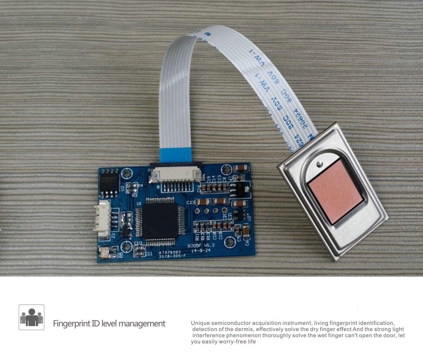 LEGU Fingerprint and Touchscreen Keyless Smart Lever Lock for Door fingerprint+password+card+key/Security intelligent anti-theft lock (Left handed) by LEGU (Image #4)