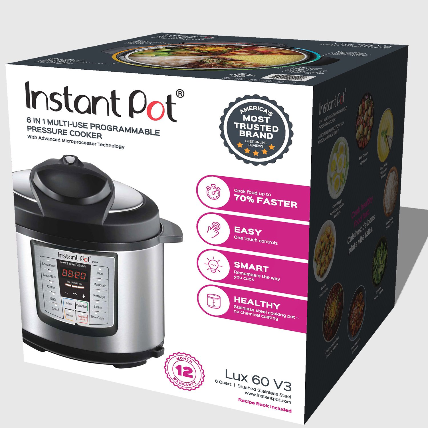 Instant Pot Lux60v3 V3 6 Qt 6 In 1 Multi Use Programmable