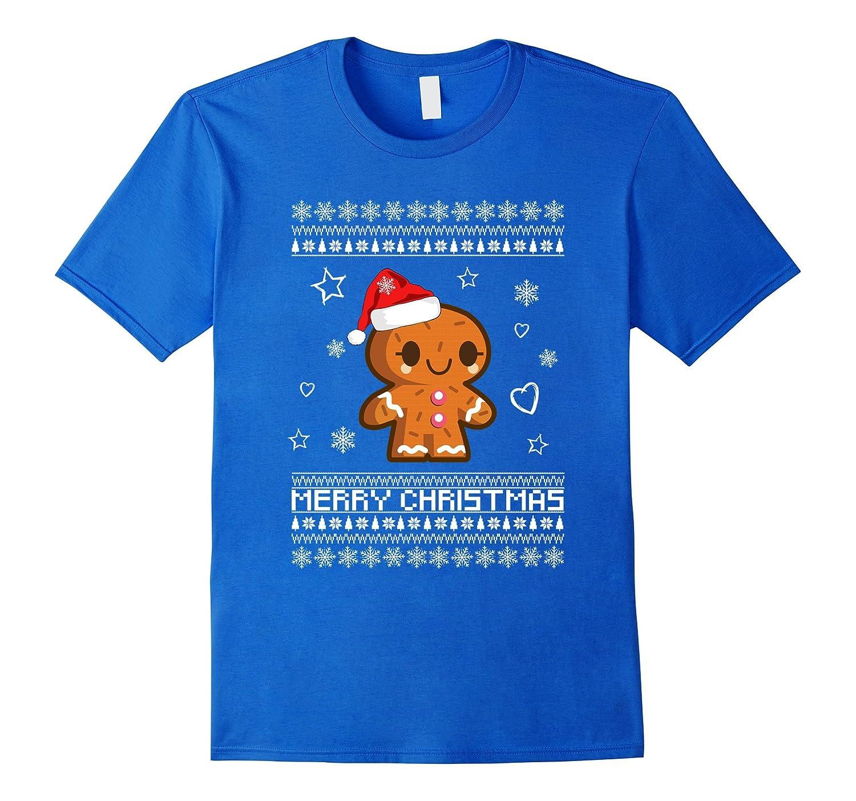 Cute Christmas GingerBread Man Ugly Christmas Sweater Shirt-FL