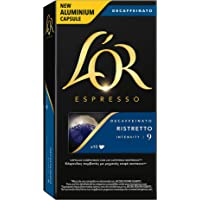 L'Or Café Espresso Ristretto Descafeinado - 4 Paquetes x 10 cápsulas - Total: 40 cápsulas