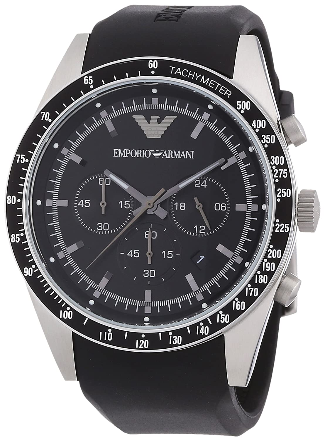6e4ce1eced Emporio Armani AR5985 Sport Black Chronograph Watch: Amazon.ca: Watches