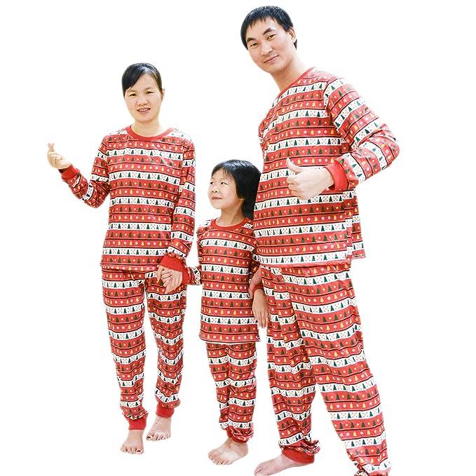 d320fb2ac2 BOZEVON Famiglia Due Pezzi Pigiama - Corrispondenza di Natale di Pigiama  per Mamma papà Bambini: Amazon.it: Abbigliamento