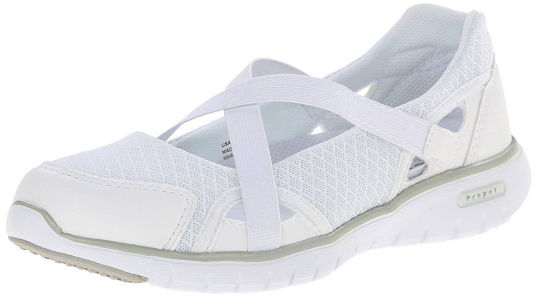 Propet Women's Travellite MJ Walking Shoe B00MUARBXW 6 N US|White